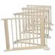 6 dalių medinis maniežas - apsaugos tvorelė