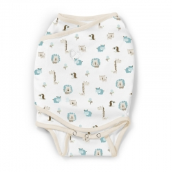 Vystyklas - kokonas SwaddleMe Kicksie Jungle (3,2 kg iki 6,4 kg)