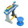 Vaikiškas pianinas su kedute ir mikrofonu Multi Blue