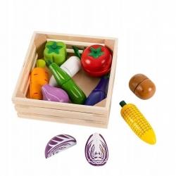 Medinių pjaustomų daržovių rinkinys dėžutėje Multi