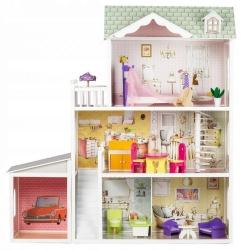Medinis lelių namas su garažu