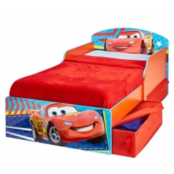 Medinė vaikiška lova Cars su stalčiais