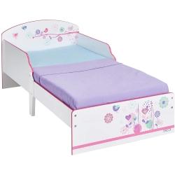 Medinė vaikiška lova Flowers