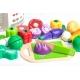 Žaislinių pjaustomų daržovių rinkinys kibirėlyje