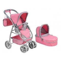 Vežimėlis lėlėms Belly Pink Pastel