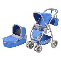 Vežimėlis lėlėms Belly Blue Pastel