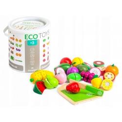 Žaislinių pjaustomų vaisių rinkinys kibirėlyje