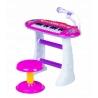 Muzikinis pianinas su kedute Multi Pink