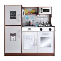 Vaikiška medinė virtuvėlė su šaldytuvu Chestnut
