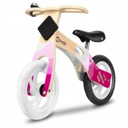 Medinis balansinis dviratis Willy Bubble Gum su skambučiu