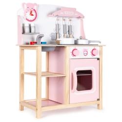 Vaikiška medinė virtuvėlė su garsais Pinky