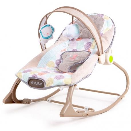 Vibro kėdute – gultukas Pastel Minky iki 18 kg.