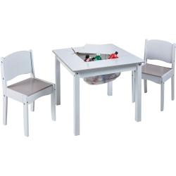 Staliukas ir kėdutės vaikams White