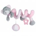 Pakabinamas žaislas - spiralė Bears Pink