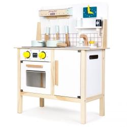 Vaikiška medinė virtuvėlė su garsais ir šviesa