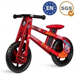 Medinis balansinis dviratis Red Racer