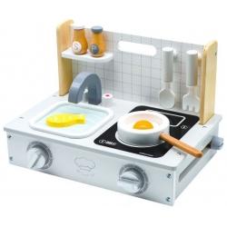 Medinė virtuvėlė Mini Compact su priedais