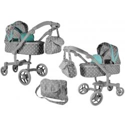 Lėlių vežimėlis Banna Grey 2in1