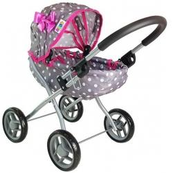 Vaikiškas lopšinis lėlių vežimėlis Žirniukai