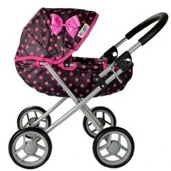 Vaikiškas lopšinis lėlių vežimėlis Dots