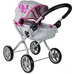 Vaikiškas lopšinis lėlių vežimėlis Žvaigždutės