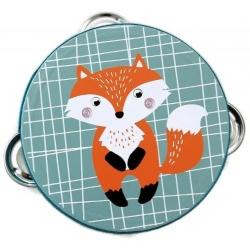 Adam Toys medinis tamburinas Fox
