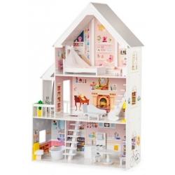 Medinis didelis lėlių namas White Residence