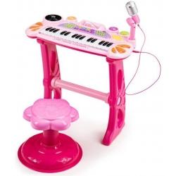 Vaikiškas pianinas su kedute, mikrofonu MultiRose