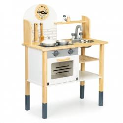Vaikiška medinė virtuvėlė Natural su priedais