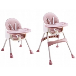 Funkcionali maitinimo kėdutė Azur Pink 2in1