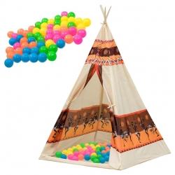 Indėniška palapinė vaikams Wigwam + 60 kamuoliukai
