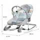 Sulankstoma vibro kėdute – gultukas su tinklelių iki 18 kg.
