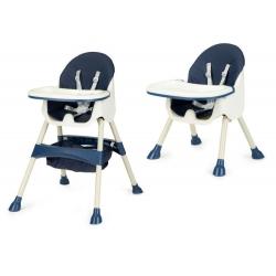 Funkcionali maitinimo kėdutė Azur Blue 2in1 su krepšiu