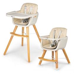Maitinimo kėdutė reguliuojamo aukščio Beige 2in1