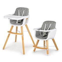Maitinimo kėdutė reguliuojamo aukščio Grey 2in1