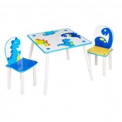 Medinis staliukas su dviem kėdutėmis Dino
