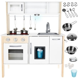 Interaktyvi medinė virtuvėlė White Natur