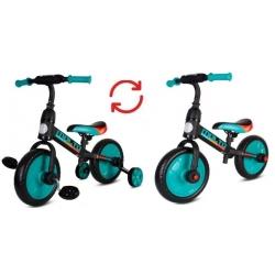 Dviratukas Molto Leggero 3in1 su papildomais ratukais ir pedalais