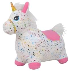 Guminis šokliukas Unicorn su minkštu užvalkalu