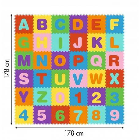 Minkštas kilimėlis-dėlionė 178x178 cm.