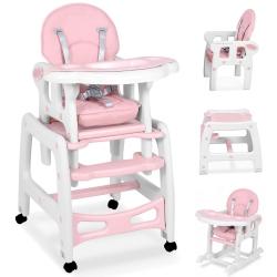 Maitinimo kėdutė–transformeris Pink Comfort su lingėmis