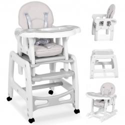 Maitinimo kėdutė–transformeris Grey Comfort su lingėmis