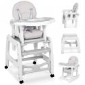 Maitinimo kėdutė–transformeris Grey Comfort su lingėmis + DOVANA