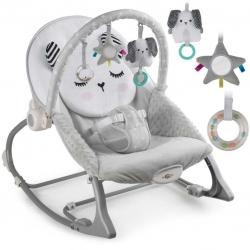 Vibro kėdute – gultukas Bunny Grey iki 18 kg.