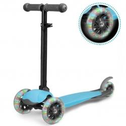 Triratis paspirtukas su LED ratais Luco Blue