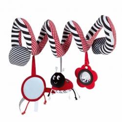 Pakabinamas žaislas - kontrastinė spiralė Boružėlė