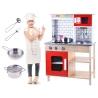 Medinė virtuvėlė Kitchen Red  su priedais