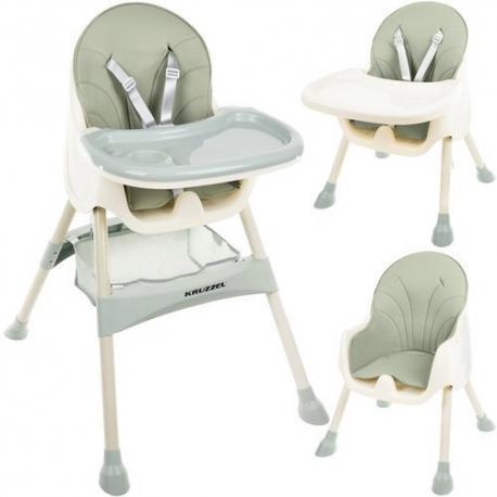 Funkcionali maitinimo kėdutė Kruz Green 2in1 su krepšiu