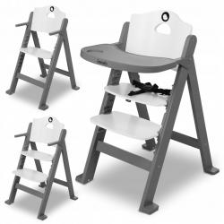 Medinė maitinimo kėdutė Floris Grey