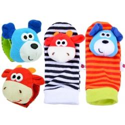Lavinamosios kojinytės ir riešinės su žaisliukais